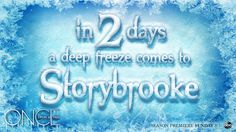 There's a cold front coming to Storybrooke this weekend. Deep Freeze, Free Tv Shows, Cold Front, Season Premiere, Happy Endings, Ouat, Once Upon A Time, It Cast, Neon Signs