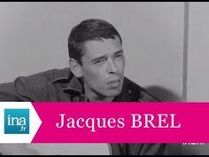 """Jacques Brel """"J'ai écrit des chansons d'homme, pas de femme"""" - Archive INA"""