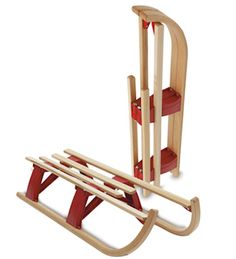 Hamax Lillie-Hammer Maxi Traditional Wooden Sledge