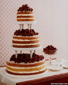 I found this picture in a magazine years ago, and decided it would be my ideal wedding cake!