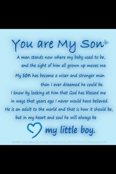 you are my son