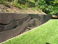 Layers, Concrete Wall  Vertical Stamping  Ron Odell's Custom Concrete  Woodland Hills, CA