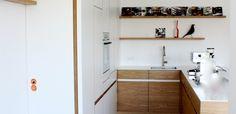 Küche in schlankem Design