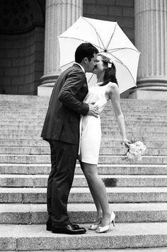 1960's Inspired City Hall Wedding