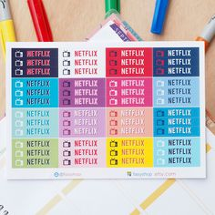 48 Netflix TV Series – TV Shows Sticker Planner by FasyShop on Etsy