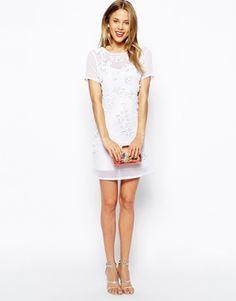 Enlarge ASOS 3D Floral Embellished Body-Conscious Dress