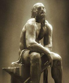statue of Hephaistos - by sculptor Scott Eaton, 2004