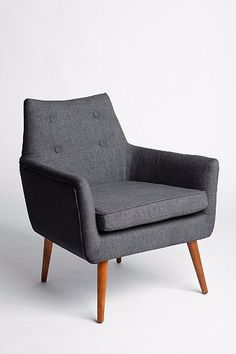 "The Modern Chair is inspired from mid-century design and wrapped in a comfortable woven fabric. A chic, modern piece that is suitable for almost any space, the Modern Chair comes with sleek, tapered wooden legs that require some simple assembly.  Dimensions: 27.5"" l x 26"" w x 31.5"" h; Seat: 18.5"" Available in a variety of colors: Seashell, TImberwolf, Yellow, Orange, Mauve and Turquoise.Please contact us to verify availability, lead times and in-store promotions before pla..."