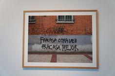 """Obra en papel/Fracasa Mejor"" Maricel Delgado ""Transvisiones: Alcobendas 2015"" Centro de Arte de Alcobendas. Madrid. #Fotogafía #Photography #PHE115 #PHOTOESPAÑA #Arterecord 2015  https://twitter.com/arterecord"