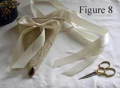 Burlap Cone with Tying Ribbons Sewing Pattern. Chair pew aisle decor. PDF ePattern for your DIY rustic wedding. Designed by Nutfield Weaver.. $6.00, via Etsy.