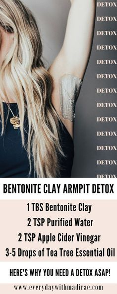 detox armpits Heres Why You Might Need A Good Armpit Detox! Sharing what is means to armpit detox, how to switch to all-natural deodorant, what to expect when detoxing, amp; a great DIY recipe for an armpit detox bentonite clay mask! Diy Deodorant, All Natural Deodorant, Deodorant Recipes, Deodorant Detox, Beauty Secrets, Beauty Hacks, Beauty Products, Beauty Guide, Health And Beauty Tips