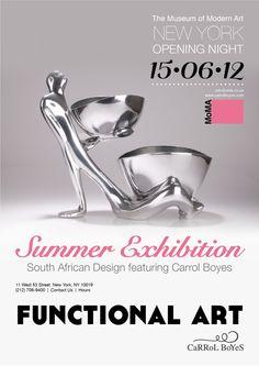 Carrol Boyes Audition by Tarien Lampen, via Behance South African Design, Opening Night, Museum Of Modern Art, Flyer Design, New Art, Behance, Graphic Design, Modern Art Museum, Visual Communication