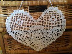 💞💖❤💛💚💙💜💕💟 - Her Crochet Crochet Angel Pattern, Crochet Angels, Crochet Cross, Thread Crochet, Crochet Blanket Patterns, Crochet Doilies, Filet Crochet Charts, Crochet Bookmarks, Crochet Decoration
