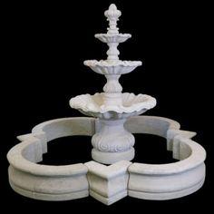 Garden Gazebo, Garden Landscaping, Water Fountain Design, White Home Decor, White Houses, Curb Appeal, Custom Homes, City Art, Landscape