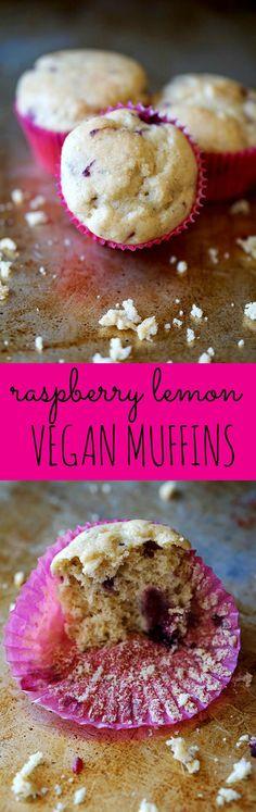 Vegan Raspberry Lemon Muffins