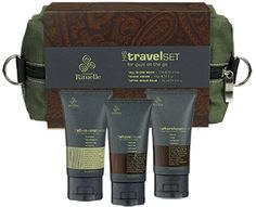 Travel Set - HIS - Urban Rituelle. All his grooming needs are covered with this stylish wet pack containing a selection of travel-sized skin care essentials, ideal for the man on the go. Pack light & maintain the look. Simple really.