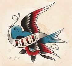 Classic Blue Bird Vintage Tattoo by Angelique Houtkamp ., Tattoo, Classic Blue Bird Vintage Tattoo by Angelique Houtkamp . Swallow Tattoo Design, Swallow Bird Tattoos, Bird Tattoo Men, Bluebird Tattoo, Flash Art Tattoos, Body Art Tattoos, Arabic Tattoos, Sleeve Tattoos, Retro Tattoos
