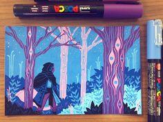 """oren in the feywild 👁 more posca pen nonsense"" Marker Kunst, Marker Art, Kunst Inspo, Art Inspo, Art And Illustration, Posca Art, Arte Sketchbook, Pen Art, Painting & Drawing"