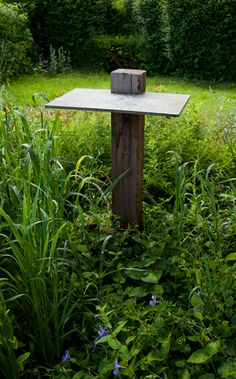 modern bird table commissioned by client in Cambridge but these would be easy to spread around the yard for the brushtail possums Garden Bird Feeders, Bird House Feeder, Diy Bird Feeder, Contemporary Bird Feeders, Platform Bird Feeder, Bird Feeding Table, Garden Mum, Slate Garden, Tableaux D'inspiration