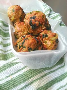 This is an easy and very tasty turkey meatballs recipes that sneaks in a serving of spinach. This recipe of gluten free, great for kid meals and meal prep. Visit mybodymykitchen.com for recipe.