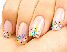Floral Dots Nail Art