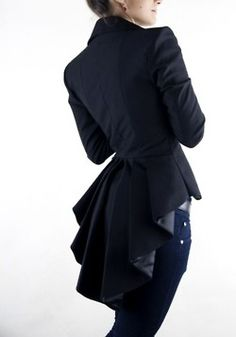 Jacket back detail is unique.  I like it, but not sure if it would work in the office setting.  Thoughts?
