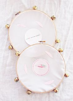 When I had Colette's boho themed party with Modify Ink, I knew it would be the time to make my version of the DIY tambourines I admired on Honestly WTF. They have beautiful lace versions used in a wedding, but I always thought it would make the perfect kid craft- my girls (and any kid, …