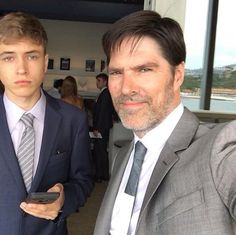 Tom with his son, James.