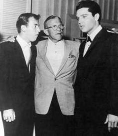 July 26. 1960  Elvis in Vegas at the Bobby Darren show and meeting George Burns.: