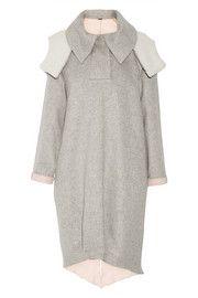 Adam LippesShearling-trimmed wool and angora-blend coat