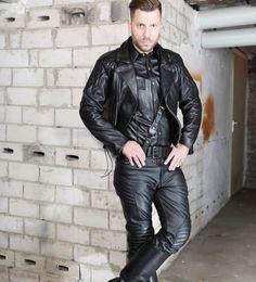 Leather Trousers, Leather Men, Leather Jackets, Cowboys Men, Hairy Men, Muscle Men, Clothing Items, Gorgeous Men, Black Men
