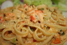 Deep South Dish: Crawfish Velveeta Fettuccine... I would you either crab or shrimp