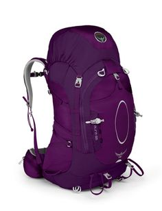 Osprey Aura 65 - Backpack Review: The Osprey Aura 65 is a womens backpacking backpack and  is available in two colors.