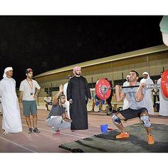 8/31/14 Sheikh Majid at Dubai Fitness Championship.  In photo: al_neaimi photo repost: hhsheikhmajid