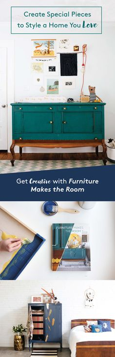 """Knack Studio founder Barb Blair goes deep into her """"knack"""" for furniture refinishing. Learn how to pick out iconic pieces and transform them into showstoppers, while be inspired to style rooms around each customized piece. With instructions for 15 before-and-after furniture projects, from dressers and tables to beds and armoires, a """"toolbox"""" section detailing Barb's favorite techniques, Furniture Makes the Room unlocks the secrets to DIY and decorating livable rooms with statement pieces."""
