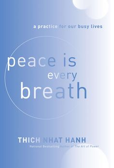 """Courtney, Nicole, Carolyn and Tom picked up """"Peace Is Every Breath"""" by Thich Nhat Hanh"""