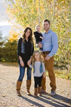 Fall family session // boots, vests, jeans // Photo by Angie Wilson Photography