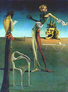 * Salvador Dali - - - Vrouw met rozenhoofd