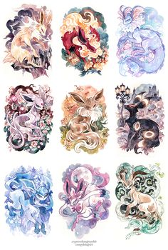 Fancy eeveelutions (that look like tattoos)