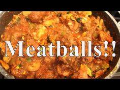 Meatballs & Red Sauce With Linda's Pantry - YouTube Youtube Cooking, Red Sauce, Pantry, Curry, Beef, Ethnic Recipes, Food, Salsa Roja, Pantry Room