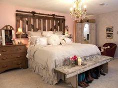 faire une tête de lit soi-même, banc shabby chic et tete de lit originale