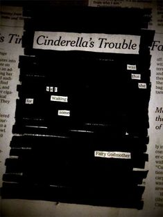Image result for blackout poetry depression