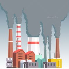 Buy Highly Polluting Factory Plant by IconicBestiary on GraphicRiver. Highly polluting factory plant with smoking towers and pipes. Save Earth Drawing, Earth Drawings, Blue Aesthetic Pastel, Water Pollution, Tumblr Wallpaper, Wallpaper Quotes, Vector Design, Vector Graphics, Abstract