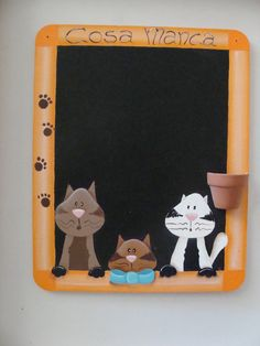 Lavagna dipinta a mano Country Paintings, Blackboards, Decoupage, Frame, Crafts, Home Decor, Feltro, School Projects, Gift