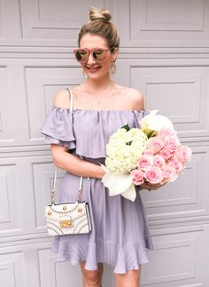 Off the shoulder and pink sunnies for spring!
