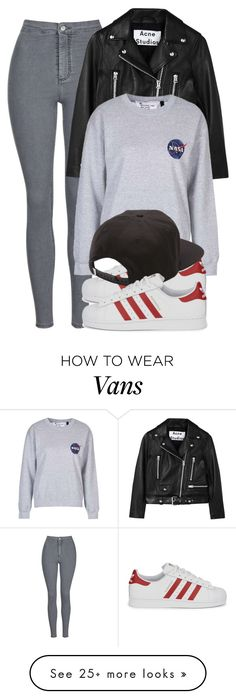 """""""Untitled #1434"""" by noka76 on Polyvore featuring Topshop, Acne Studios, adidas…"""