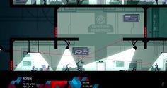 Ronin game screenshot, flat vector action 2D platform game