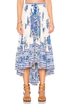 9426913175f Womens Ladies Boho Tribal Floral Printed Skirt Chiffon Long Asymmetric  Pleated r Maxi Skirt