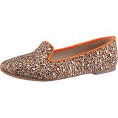 Bullboxer Flache Slipper orange Damen Schuhe