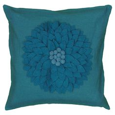 Dahlia Pillow in Turquoise at Joss and Main
